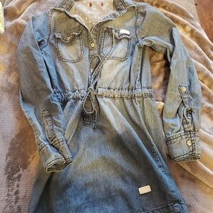 Adorable 7FAM Jean Dress Girls Small
